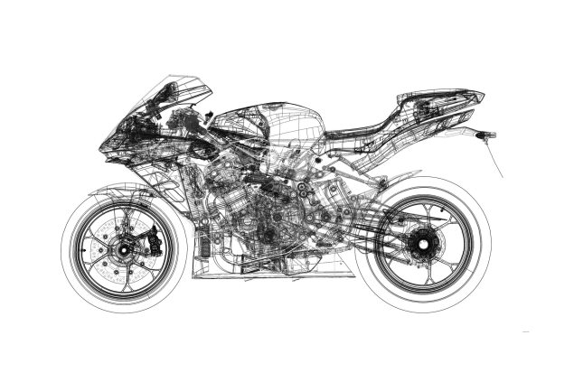Castiglioni Denies Fiat Buyout of MV Agusta Is in the Works mv agusta f4 rr technical line drawing 635x423