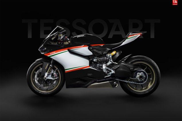 Ducati 1199 Superleggera Tricolore Nero by Tessoart Ducati 1199 Superleggera Tricolore Nero Tessoart 635x423