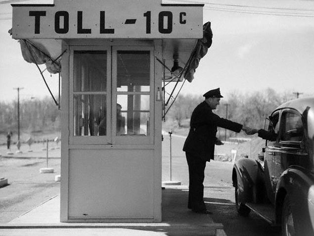 Unified Toll System in the Works for the Europe Union tollbooth kiosk vintage