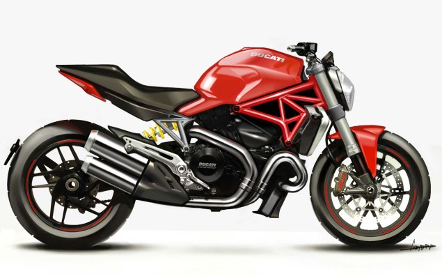 2014 Ducati Monster 1200 Mega Gallery 2014 Ducati Monster 1200 concept 17 635x396