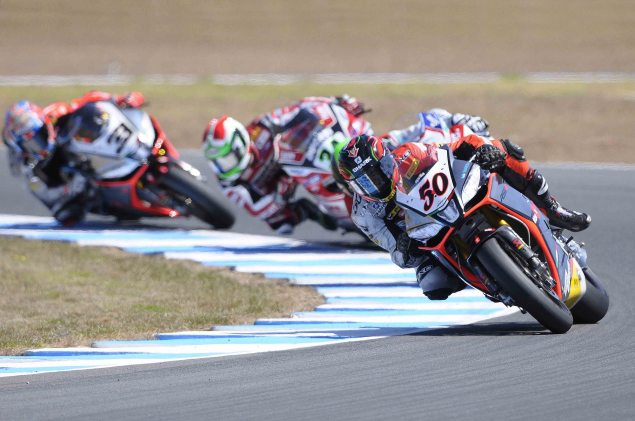 WSBK: Race Results for Race 2 at Phillip Island sylvain guintoli aprilia racing phillip island wsbk 635x421