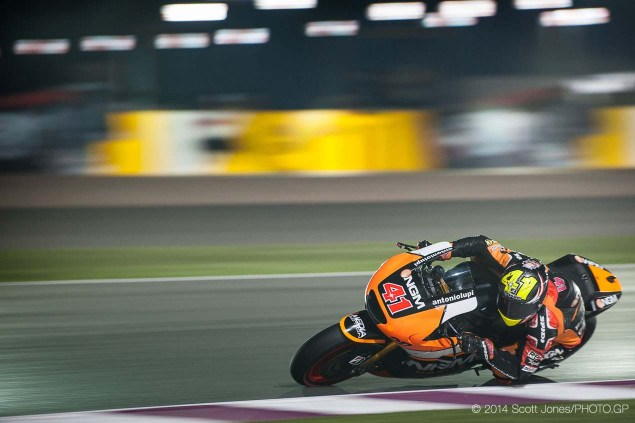 Thursday Summary at Qatar: The Open Revolution, Bridgestones 2014 Tires, & Moto3s Mixed Bag 2014 MotoGP Thursday Qatar Scott Jones 14 635x423