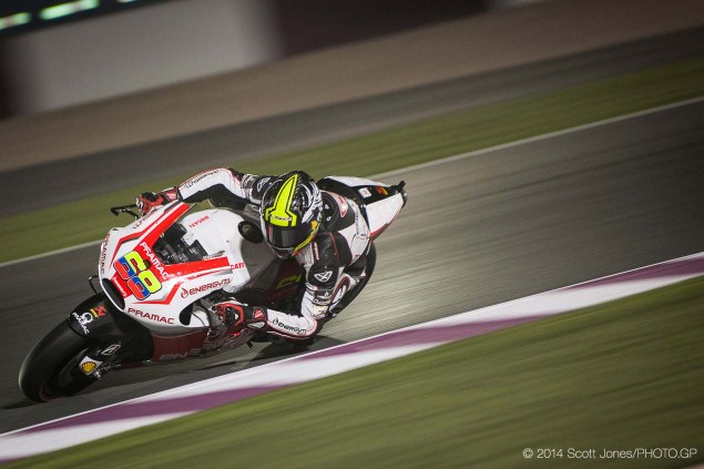 MotoGP: Yonny Hernandez with Pramac Ducati for 2015 2014 Qatar GP MotoGP Friday Scott Jones 18 635x423