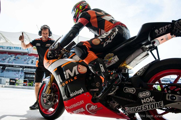 Forward Racing To Use New MotoGP Chassis at Mugello 2014 Friday COTA Austin MotoGP Scott Jones 09 635x423