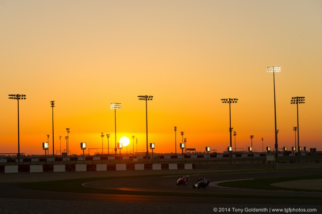 WSBK: South Africa Out, Qatar Confirmed on 2014 Calendar MotoGP Sunset Qatar GP Tony Goldsmith 635x422