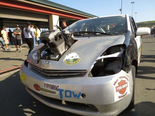 Harley Davidson Powered Prius Found on eBay ToyoHog Harley Davidson powered Prius 01 635x476