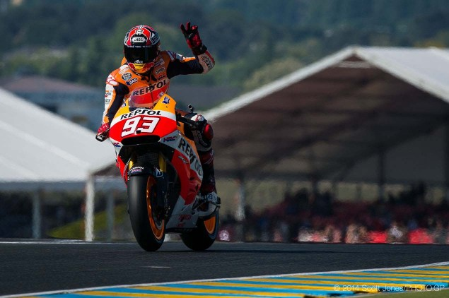 Saturday Summary at Le Mans: Marc Marquez as a Sound Investment, Rossi on the Honda, & The Changing of Moto2 2014 Saturday Le Mans MotoGP Scott Jones 11 635x422