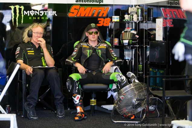 Monster Tech 3 Yamaha Re Signs Bradley Smith for 2015 Friday Jerez Spanish GP Tony Goldsmith 19 635x422