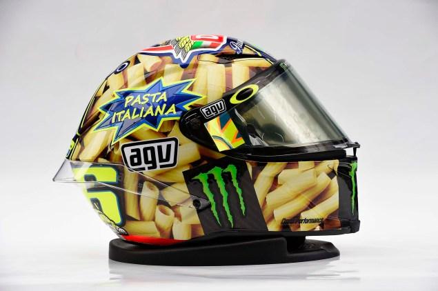 Valentino Rossis Special Mugello Helmet Explained Valentino Rossi AGV Helmet Mugello 2014 07 635x422
