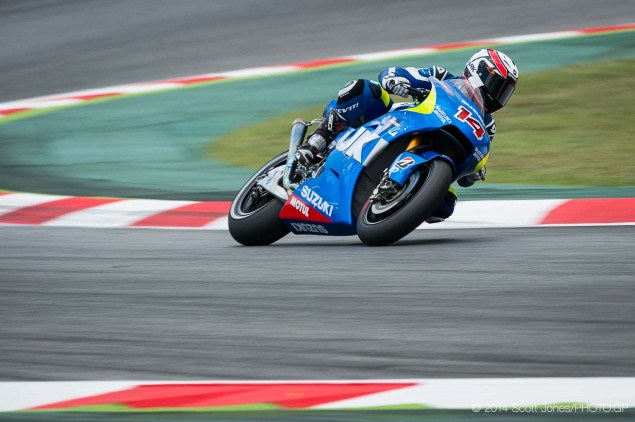 Photos of the Suzuki XRH 1 Testing at Catalunya Suzuki XRH 1 Catalunya Test MotoGP Scott Jones 07 635x422