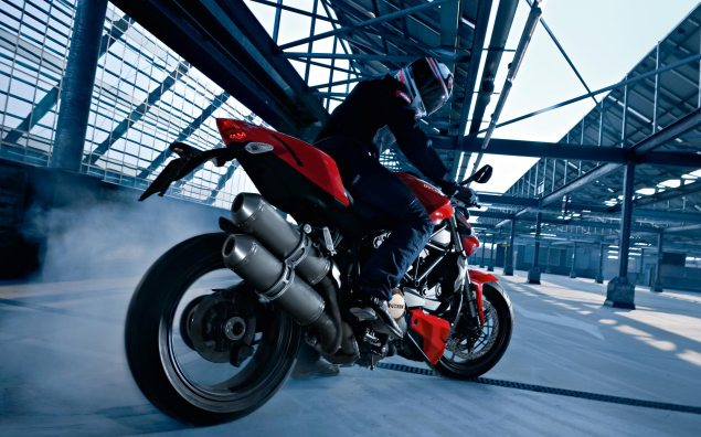 Moto Bellwether: Q1 2014 Motorcycle Tire Sales Down 12.7% ducati streetfighter motorcycle burnout 635x396