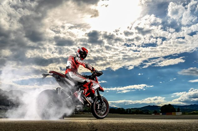 Ducati Sales Up 3% for the First Six Months of 2014 Ducati Hypermotard SP burnout 635x423