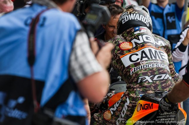 Photos of Colin Edwards Camouflage Leathers at Indy Saturday Indianapolis MotoGP Indianapolis GP Colin Edwards Tony Goldsmith 8 635x422
