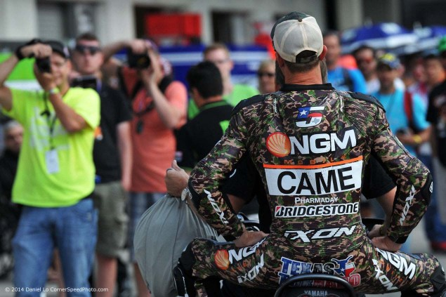 Photos of Colin Edwards Camouflage Leathers at Indy colin edwards 2014 indianapolis gp camouflage leathers daniel lo 01 635x423