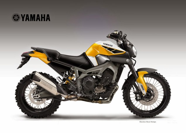 Yamaha MT 09 Triple Cross Over Concept by Oberdan Bezzi yamaha fz mt 09 triple cross over oberdan bezzi scrambler 635x455