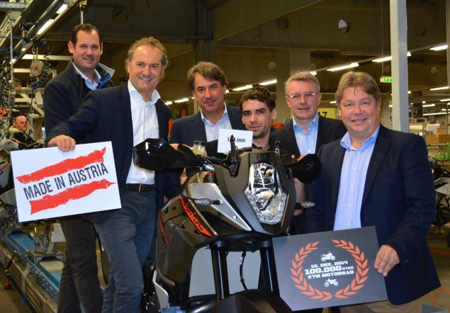 KTMs Austrian Factory Hits 100,000+ Bikes for 2014 KTM Austria produciton 100000 635x442