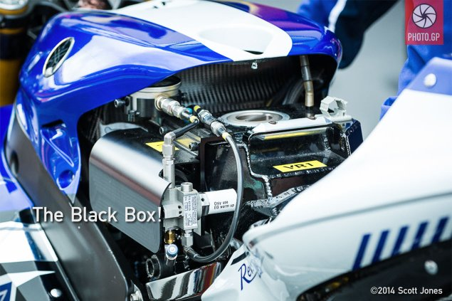 Trackside Tuesday: The Black Box Revealed Yamaha MotoGP YZR M1 fuel tank substitute 2013 AR 635x423