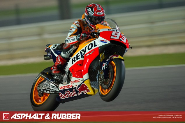 Marc-Marquez-Qatar-MotoGP-Wheelie-Tony-Goldsmith