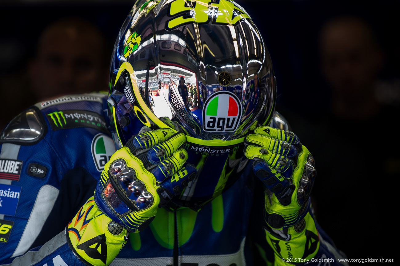 Valentino Rossi's 2015 Mugello AGV Helmet - Asphalt & Rubber