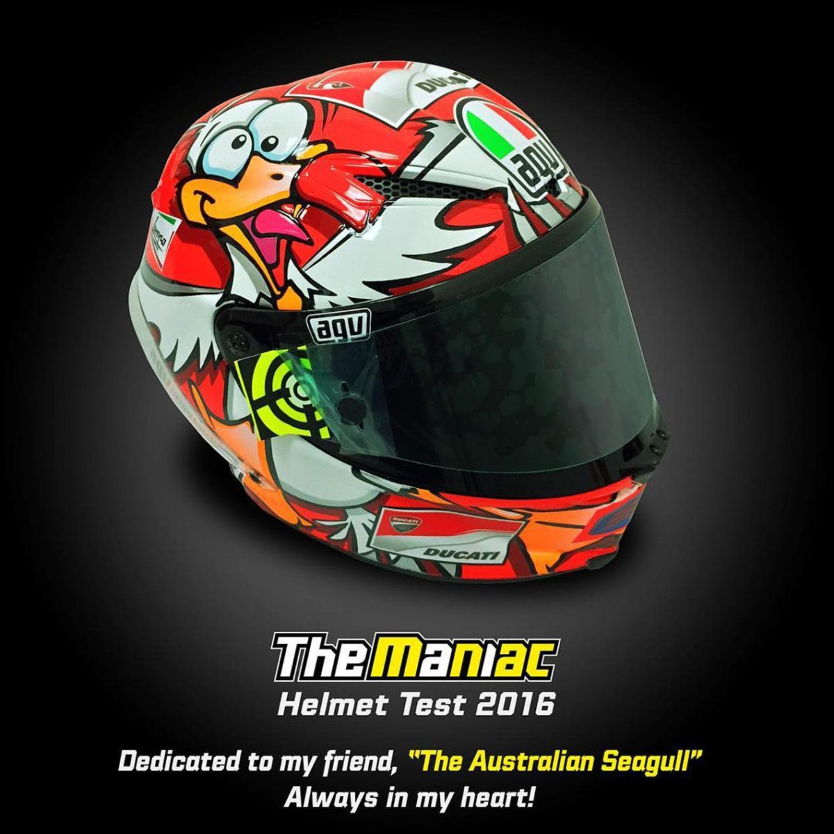 Iannone Pays Homage to Dead Seagull with Winter Helmet