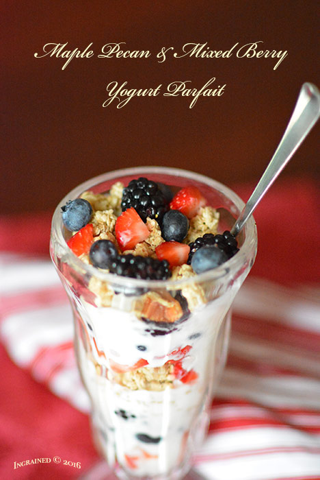 Maple Pecan & Mixed Berry Yogurt Parfaits