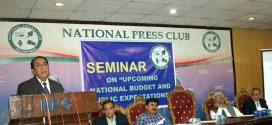 Seminar on  umcoming budget organized by the National Press Club