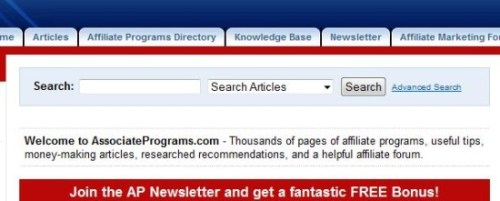 Associate Programs.com search engine tool