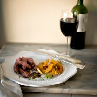 The Amazing Delicata Squash Served With Grilled Steak and Espresso Vinegar