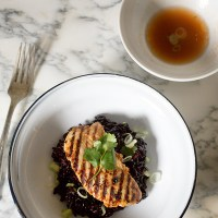 Red Curry Chicken with Gingered Black Rice