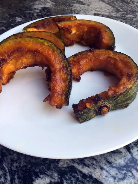 roasted squash on a plate wide