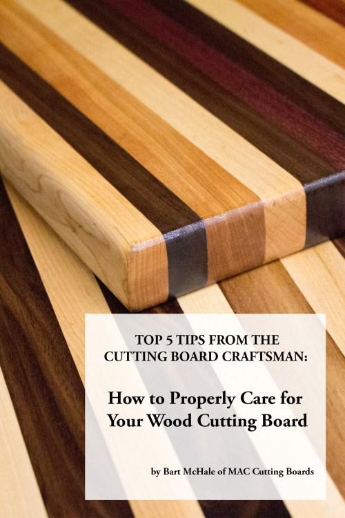 Medium Of Bamboo Cutting Board Care