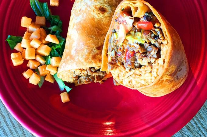 astigvegan sisig burrito at papalote restaurant