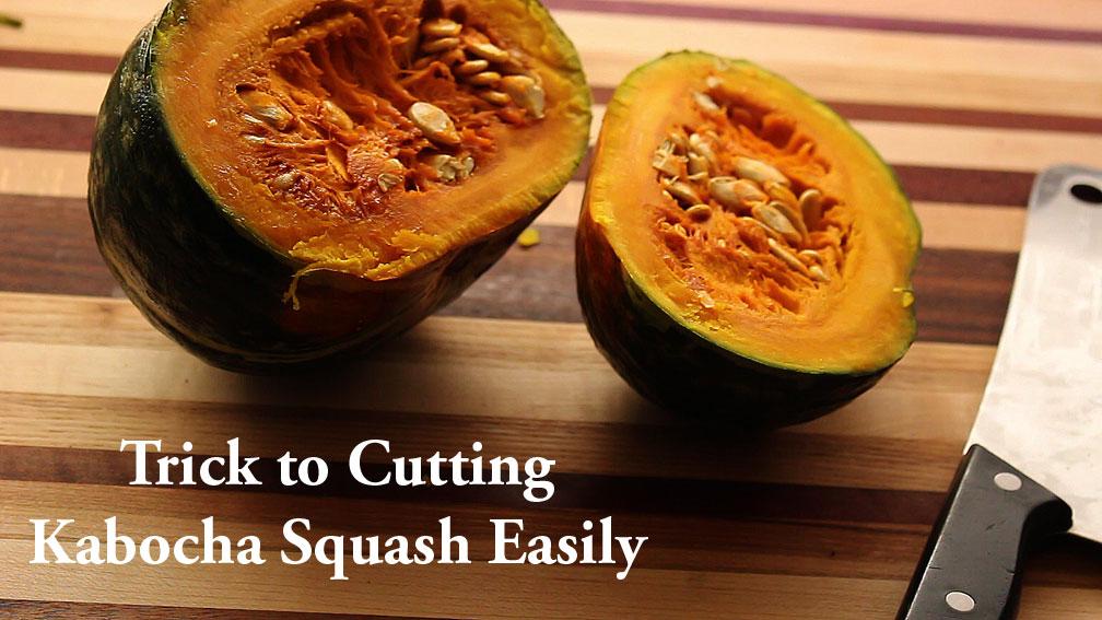 how to cut up kabocha squash
