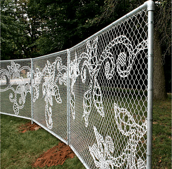 DEMAKERSVAN'S LACE CHAIN-LINK FENCE.