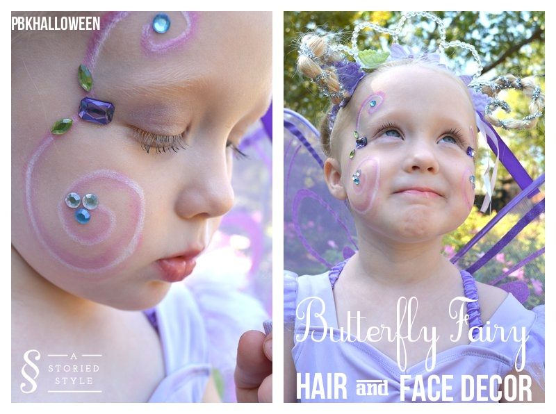 DIY Halloween Costume: Butterfly Fairy Hair & Makeup