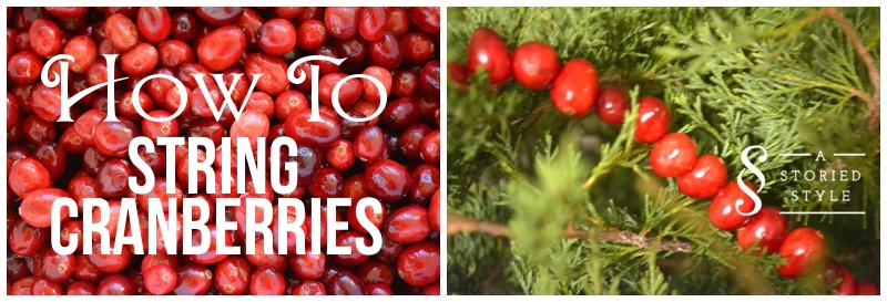 How To String Cranberries (DIY Cranberry Garland)