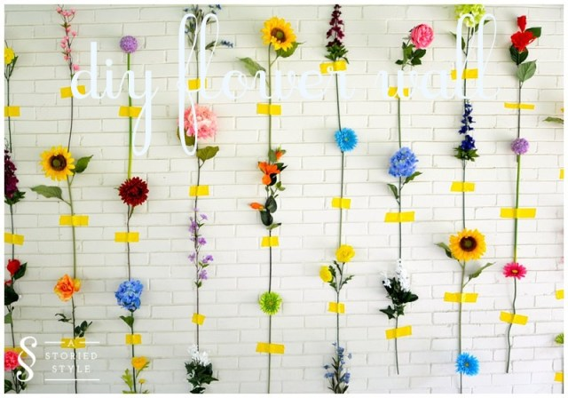 diy flower wall - a storied style