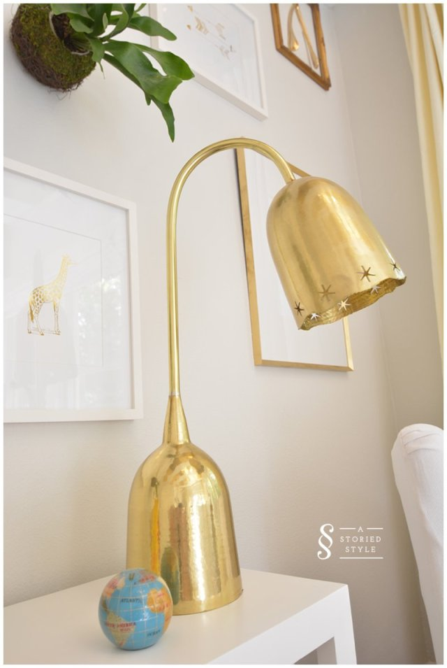gold anthropologie lamp