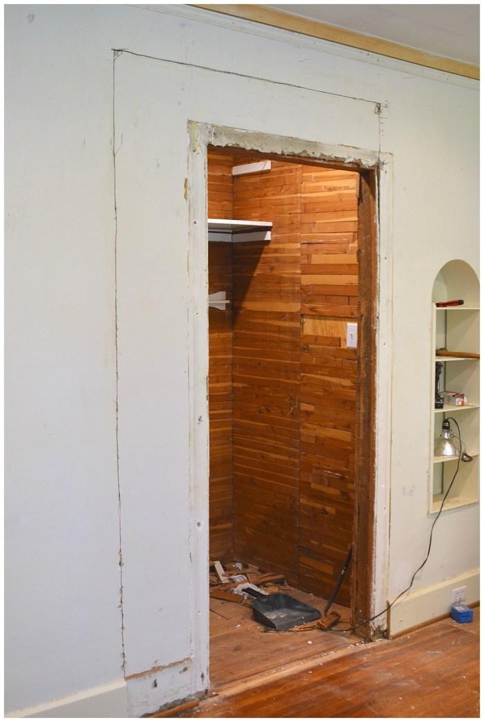 closet door widening
