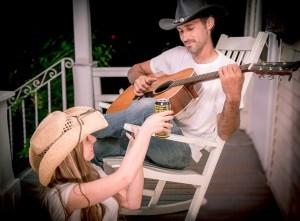 par på veranda