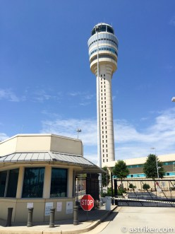 Atlanta Airport tower 16 stories above the airport