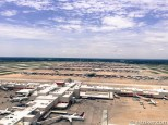 A nostalgic filter overlooking the airport