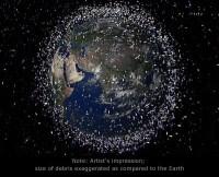Impressie van het ruimte-afval