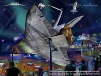 Een Space Shuttle in een museum