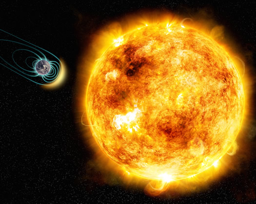 Genç Bir Yıldızın Manyetik Alanı ve Yaşam İlişkisi