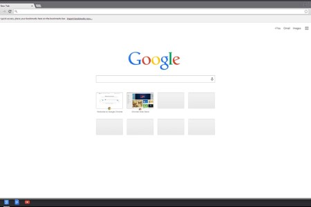 page demarrage chrome