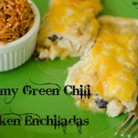 Creamy Green Chili Chicken Enchiladas