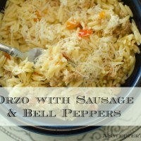 Orzo with Sausage & Bell Peppers