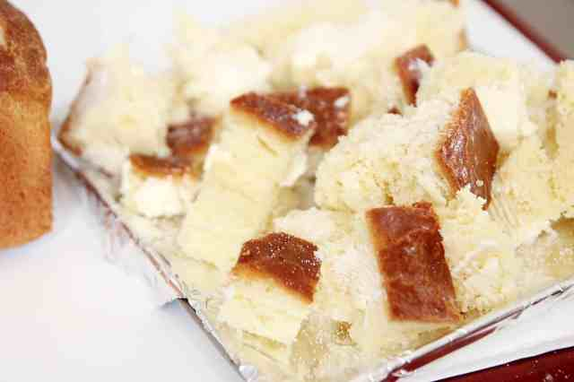 how to, bread cubes, Japanese honey toast, honey toast
