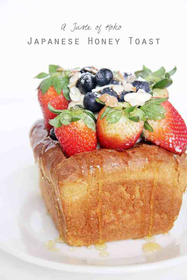 Japanese honey toast, how to make Japanese honey toast